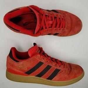 adidas Busenitz Suede Skateboarding Shoes 8 Red